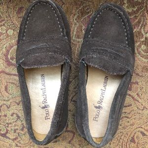 Boys suede loafers